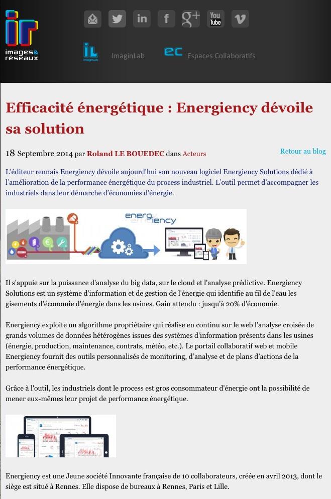 Images & Réseaux Energiency
